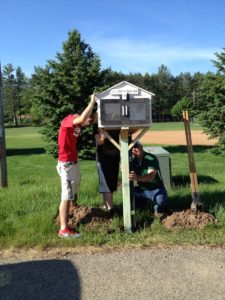 Students and Andy Fuhs installed the box